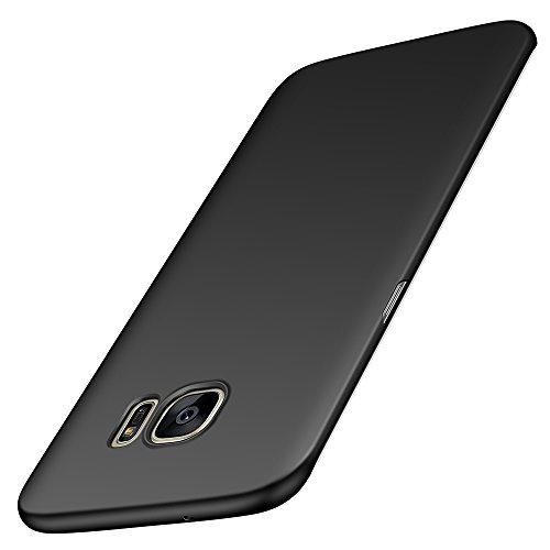 Samsung Galaxy S7 Edge Hülle, Anccer [Serie Matte] Elastische Schockabsorption und Ultra Thin Design für Samsung S7 Edge (Glattes Schwarzes)