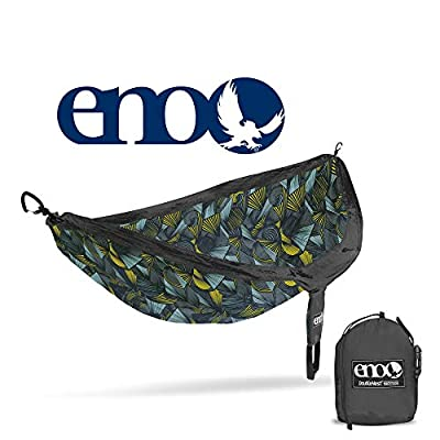 ENO, Eagles Nest Outfitters DoubleNest Print Lightweight Camping Hammock, 1 to 2 Person, Tribal: Charcoal