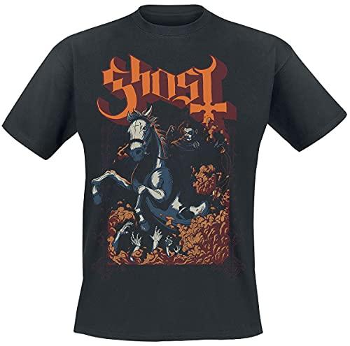 Ghost Charger Hombre Camiseta Negro M, 100% algodón, Regular