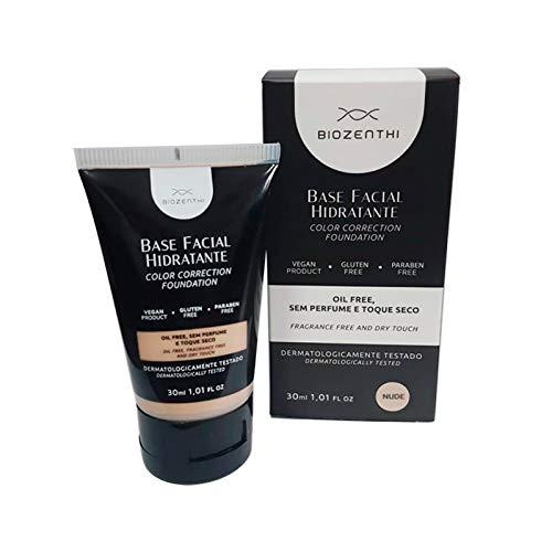 Base Facial Hidratante Natural, Vegana e Orgânica Bege Nude 30ml – Biozenthi