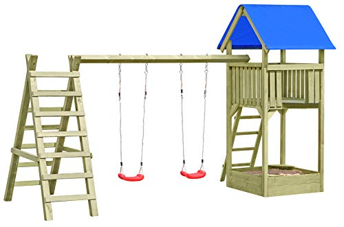 Gartenpirat Spielturm Premium XL mit Schaukel und Sandkasten TÜV-geprüft