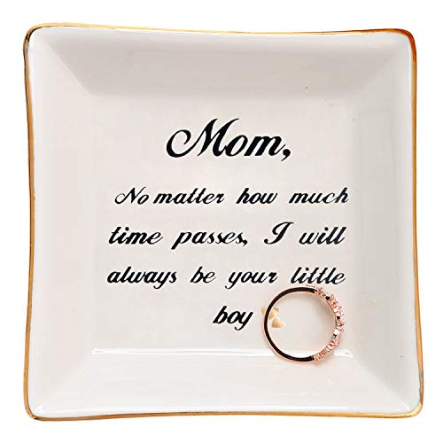 HOME SMILE Mom Gifts from Son Ring Trinket Dish-Mom,No Matter How Much Times Pass,I Will Always Be Your Little Boy (Things To Get For Your Moms Birthday)