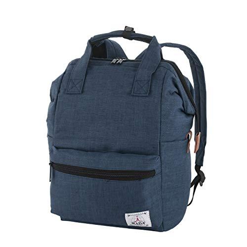 Rada Rucksack Basic Plus Freizeitrucksack für Herren und Damen, Leichter Daypack für Jungen und Mädchen, geeignet für Arbeit und Sport, wasserabweisendes Polyester (Shadow Blue)