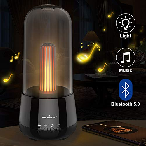 KEYNICE Bluetooth-Lautsprecher, Tragbare LED Kabelloser Lautsprecher, Bluetooth 5.0 Version, Eingebauter 2000mAh Akku, Drahtloser Bluetooth-Lautsprecher mit Zwei Lichtmodi