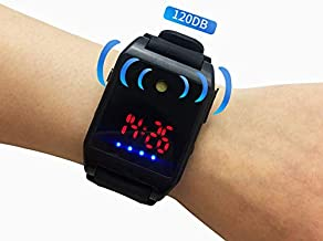 SMTGUIDE Outdoor Wrist Band Outdoor Running Watch with Alarm Wristband Alarm Safety Sound Outdoor self Defense Watch with Alarm Outdoor Bracelet Wrist Band Alarm for Women