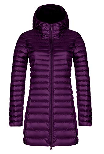 cxzas852 Damen Daunenjacke Large Size Warm Winter Lightweight Medium Long Slim Kapuzenmantel