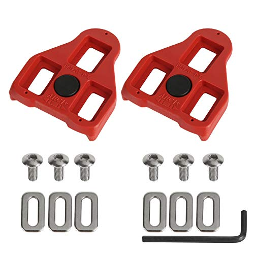 Haibinsuo Mountain Bike Pedals, MTB Pedals, Road Bike Pedals Self-locking Bicycle Cycling Anti-slip Pedal Cleat (9 Degree Float) - Indoor Cycling & Road Bike Bicycle Cleat Set 1