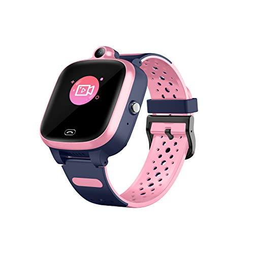 Kinder-Smartwatch mit hochauflösender Touchscreen-Gaming-Smartwatch, IP67 tief wasserdicht, geeignet für Geburtstagsgeschenke, geeignet für 4-12 Jahre,Rosa