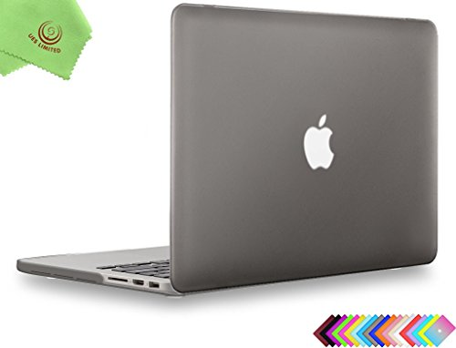 UESWILL Smooth Matte Hard Case for MacBook Pro Retina, 15 inch,GRAY