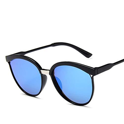 baidicheng Gafas de sol de diseño de moda, gafas de sol redondas con marco de policarbonato para mujeres y hombres (color: 6)