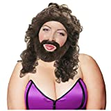 Bearded Lady Costume Bearded Lady Wig Beard for Bearded Lady Costume Brown