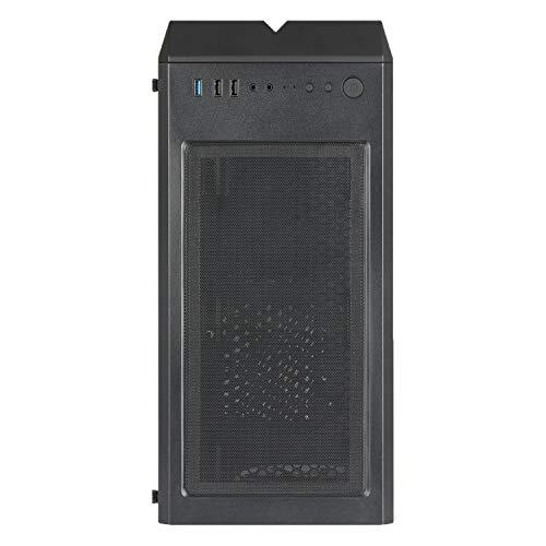 CHIPTRONEX MX1 RGB Mid Tower Cabinet USB 3.0 Tempered Glass RGB Fan Preinstalled (MX1 RGB)