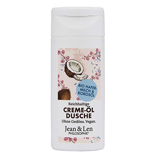 Jean & Len Creme-Öl Dusche Reichhaltig Bio Hafermilch & Kokosöl, 50 ml