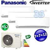 Climatiseur Panasonic Inverter R32 Multi Tri-split A++ A+ 2+2+3,5 kw TZ A++