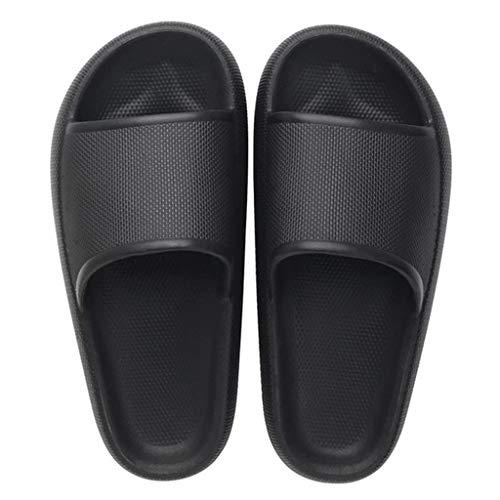 Nobrandd Foot Relax Anti-Rutsch Kissen Hausschuhe 2020 Technologie Super Soft Home Slippers, Schwarz - Schwarz - Größe: 41 EU