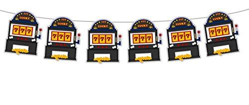 5' Tall SLOT MACHINE Garland, Slot Machine Banner, Slot Machine Decorations, Slot Machine Party, Slot Machine Birthday, Casino Party