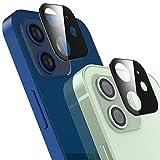 AUCHIKU Kamera Panzerglas kompatibel mit iPhone 12[2 Stück],Kamera Screen Protector 9H Härte Kamera Schutzhülle 360 Grad Full Screen Kamera objektiv Displayschutzfolie für iPhone 12