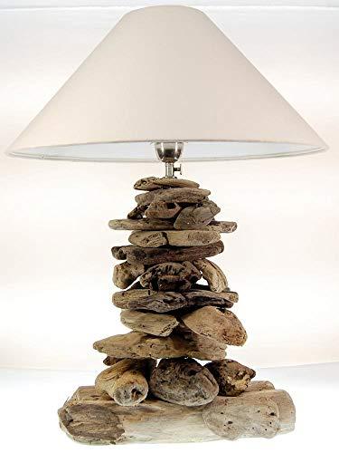 *SEESTERN Treibholz Beistell Lampe Tischlampe Driftwood Holzdeko 65 cm hoch /1630*
