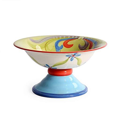 HJXSXHZ366 Keramikschale Obstsalat Schüssel Wohnzimmer Esszimmer Dekorationen Keramik Geschirr Nudeln Getreide Suppentablett Geschirr 23x12cm