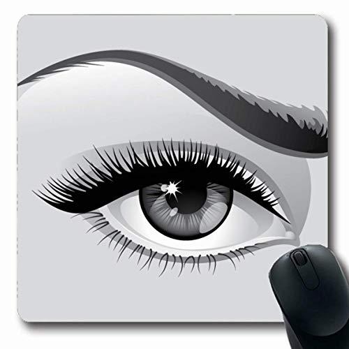 Luancrop Mousepads Mädchen Wimpern Augenklammer Mensch Graustufen Augenbrauen Wimperntusche Gesicht...