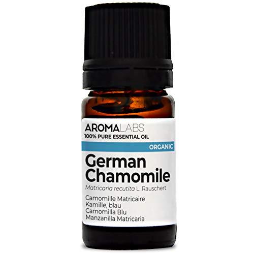 Aroma Labs Camomilla Blu Bio - 5Ml - Olio Essenziale Bio E Naturale Al 100% - Qualità Verificata Mediante Cromatografia - Aroma Labs - 5 ml