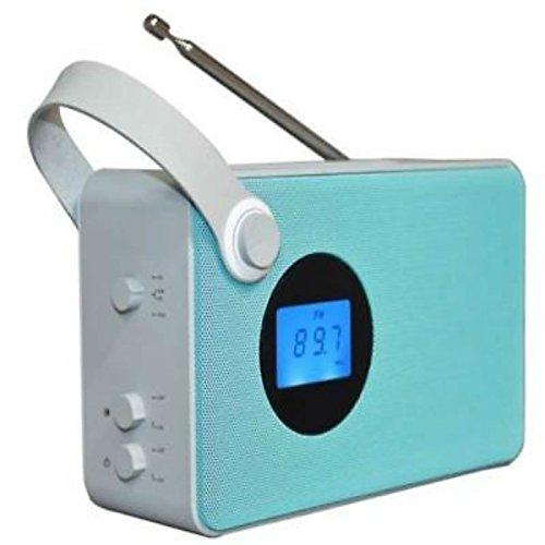 Akai AKBT60AZ Radio Tragbar Analog & Digital Blau, Weiß - Radios (Tragbar, Analog & Digital, FM, LCD, Blau, Blau, Weiß)