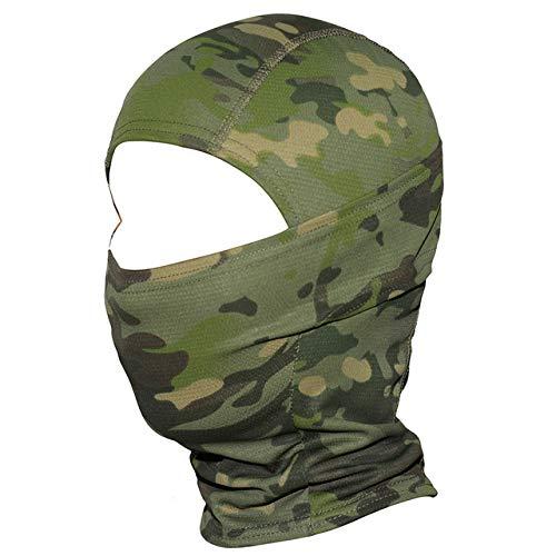 Pasamontañas táctico militar Cap CP Camuflaje Mascarilla facial Motocicleta Motocross Ciclismo Ejército Biker Head Shield Sombrero Hombres