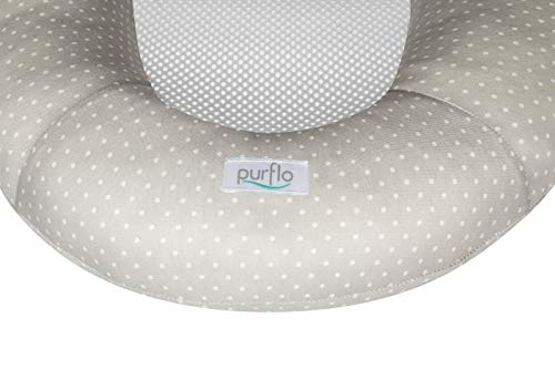 PurFlo PNST/CV/ST Baby Replacement Cover for Newborn Breathable Sleep Nest 0-6M in Soft Truffle
