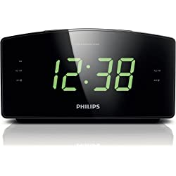 Philips AJ3400/37 Clock Radio, Black