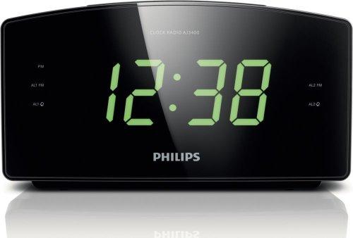 Philips AJ3400/37 Clock Radio,Black