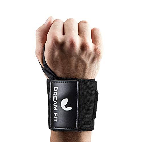 Dream FIt Polsiere Palestra 2a Generazione per Bodybuilding, Crossfit, Powerlifting, Calisthenics, Tutore Polso Supporto Polso Sollevamento Pesi Fasce da Polso Polsini Resistenti Uomo e Donna