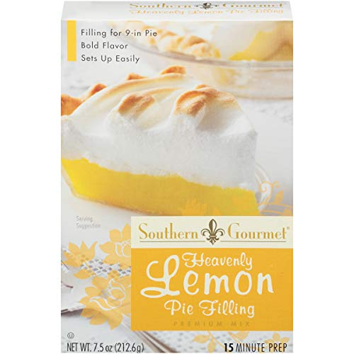 Southern Gourmet Heavenly Lemon Pie Filling Mix, 7.5 Ounce Box (Pack of 6)