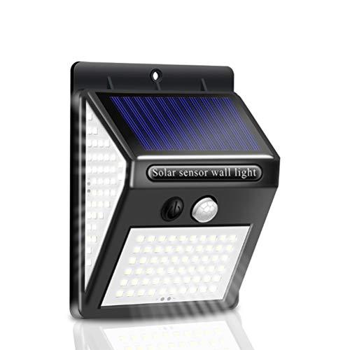 Solar Wandleuchte, Solar Bewegungssensor Lichter 270 Grad Weitwinkel Wasserdicht Solarbetriebene Langlebige Wandleuchten für Gartenzaun Tür Hof Garage Weg