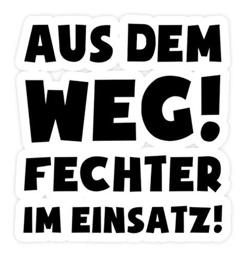 shirt-o-magic Aufkleber Fechten: Fechter im Einsatz! - Sticker - 5x5cm - Weiß