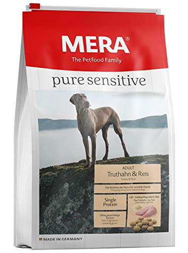 Mera Dog Hundefutter Pure Sensitive Truthahn und Reis, 12.5 kg