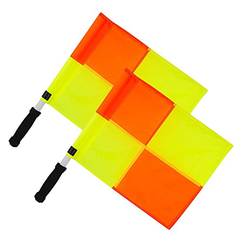 OPTIMUM Unisex-Adult Linesman Flag Set Linienrichter Flaggen Orange/Gelb, one Size
