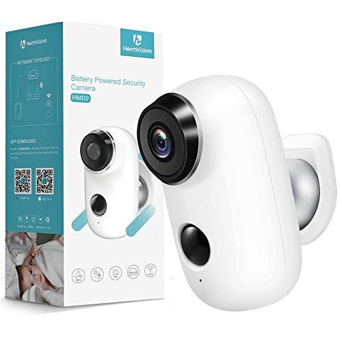 HeimVision HMD2 1080P Caméra Surveillance WiFi Extérieure Solaire Batterie Rechargeable, IP65 Étanche, Détection de Humaine, Vision Nocturne, 2 Way Audio, MicroSD/Cloud Stockage