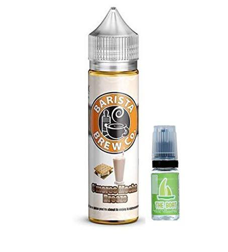 E Liquid Barista Brew Co. - S´mores Mocha Breeze 50ml - 80vg 20pg + E Liquid The Boat 10 ml lima limón - Pack de 2 unidades para cigarrillo electrónico. Ambos liquidos contienen 0,0mg de nicotina.