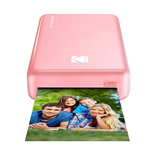 Kodak Mini 2 HD Wireless Portable Mobile Instant Photo Printer, Print Social Media Photos, Premium Quality Full Color Prints – Compatible w/iOS & Android Devices (Pink)