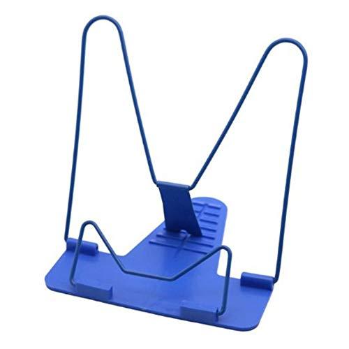 CVBN Sujetalibros, portátil, Plegable, Ajustable, Soporte para Libros de Lectura, Soporte, Azul