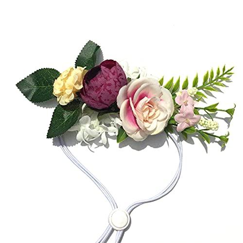 NCONCO Corona de flores para mascotas Festival de boda guirnalda floral perro fotografía accesorios