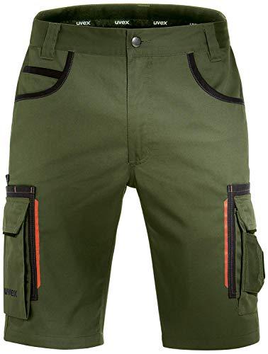 Uvex Tune-Up Arbeitshosen Männer Kurz - Shorts für die Arbeit - Grün - Gr 32W/Etikettengröße- 48