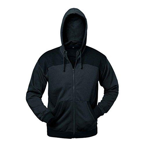 Sweatshirt-Jacke Mailand mit Kapuze grau/schwarz Gr. M