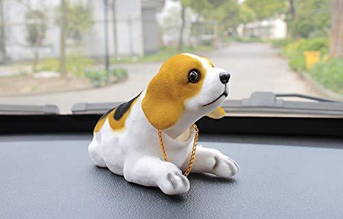 A50D KFZ Auto Dekoration Bobbing Leiter Hund Beagle geformt Wackelhund Halskette, wackeldackel Hund für Auto und Zuhause