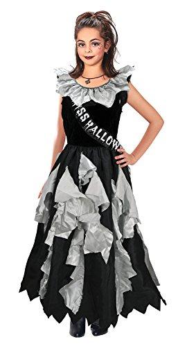 Bristol Novelty CC179 Costume de Reine de Promo Zombie, Medium, 5 a 7 Ans, Noir