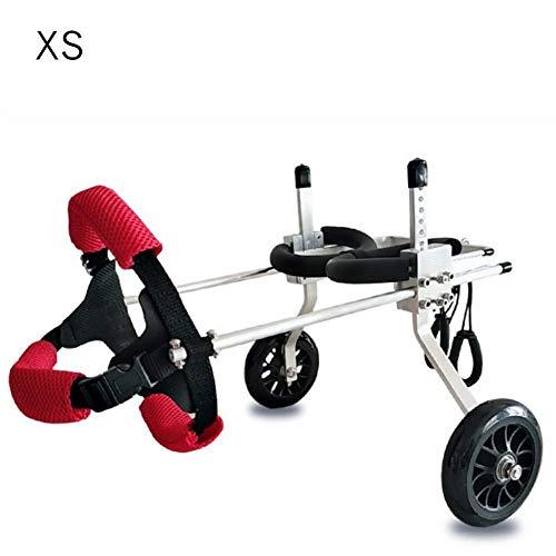 Hund Rollstuhl Einstellbare Gehhilfe Hundegehilfe Rollwagen 2 Räder Hunderollstuhl, Hinterbeine Rehabilitation Behinderte Hundegestützter Spaziergang für Haustiere Rehabilitation für kleine Hunde