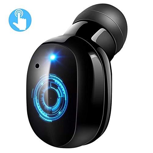 VITN Auricular Bluetooth 4.2 Invisible,Mini Auricular In Ear Control Táctil,Auricular Inalámbricos con Micrófono,Cancelacion de Ruido,2 USB Magnéticos Manos Libres para Coche y Negocio con Estuche