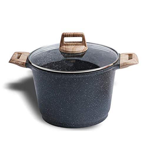 YWSZJ Cacerola esmaltada, Cacerola, Tapa de aleación de Aluminio multifunción Sopa de Olla Pan con el Vidrio, Cocina de inducción