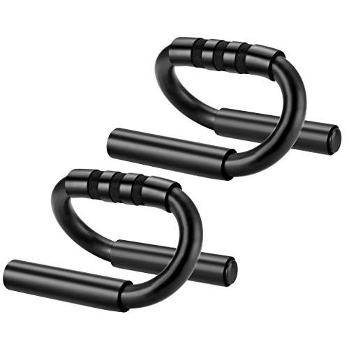 ACERD Kiewhay Liegestützgriffe für Muskelkrafttraining - Push Up Bars mit Schaumstoffgriff Tragbar für Fitness Training zu Hause Fitnessstudio - S-Form Liegestütze Griff für den Boden für Mann Frau