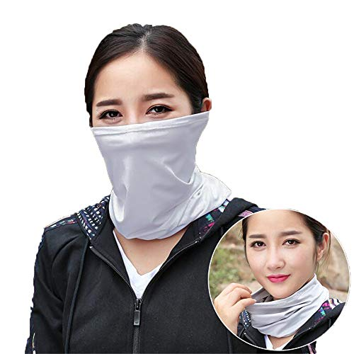 Abstract Blue Flower Neck Warmer Micro Fleece Neck Elastic Neck Gaiter Tube Moisture Wicking TurtleS Neck Keep Warm Half Face Mask